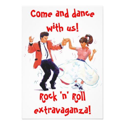 rock and roll dance invitation
