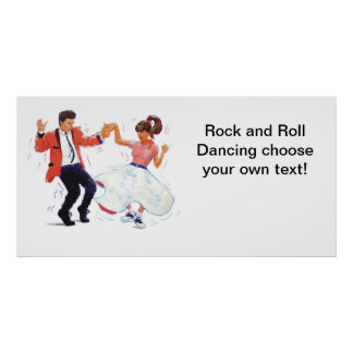 Rock and Roll Dancing Banner Poster