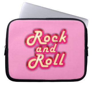Rock-and-roll de neón fundas computadoras