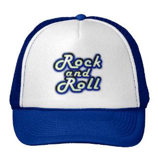 Rock-and-roll de neón gorras