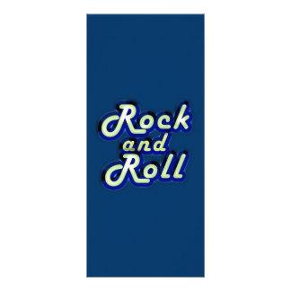 Rock-and-roll de neón lona publicitaria
