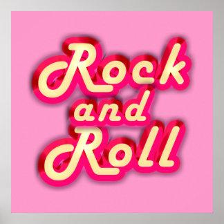 Rock-and-roll de neón poster
