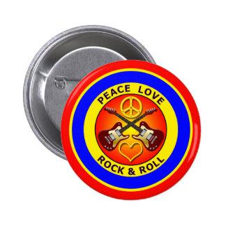 ROCK-AND-ROLL DEL AMOR DE LA PAZ PINS