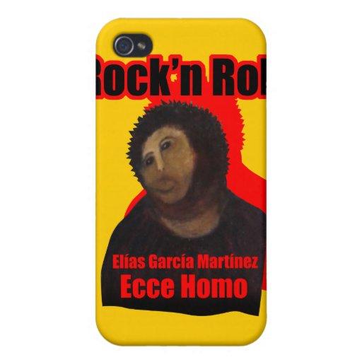 Rock-and-roll del homo de Ecce iPhone 4/4S Carcasas