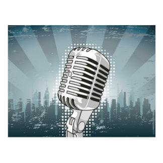 Rock-and-roll del micrófono postales