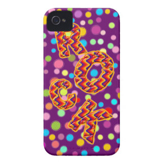 Rock and Roll Dots iPhone 4 Case-Mate Case