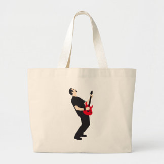rock and roll e-guitar more player tote bag
