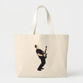 rock and roll e-guitar more player large tote bag