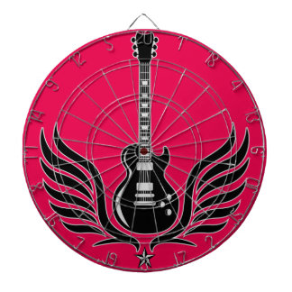 rock and roll electric guitar wings dart boards