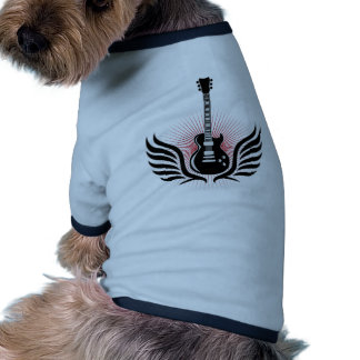 rock and roll electric guitar wings pet clothes