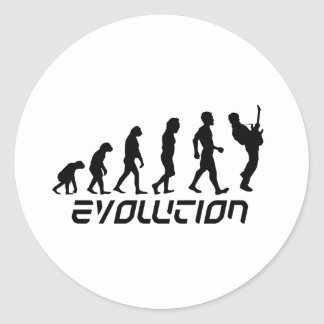 Rock and Roll Evolution Classic Round Sticker
