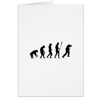 rock and roll evolution greeting card
