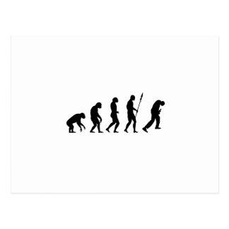 rock and roll evolution postcard