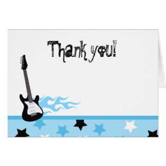 Rock and Roll Folded Thank you notes Stationery Note Card