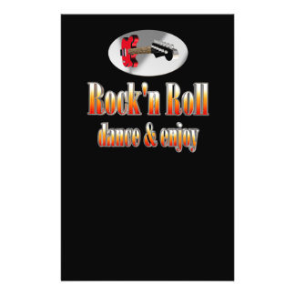 """Rock-and-roll Folleto 5.5"""" X 8.5"""""""