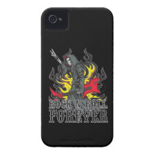 Rock and Roll Forever iPhone4/4s Skull Guitar Case Id Iphone 4 Covers