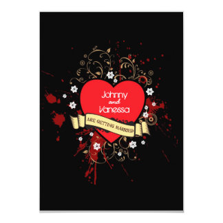 Rock and Roll Grungy Heart (Brown) Card