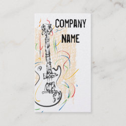 Rock and Roll Guitar Business cards