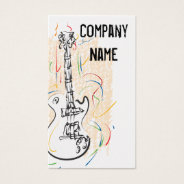 Rock And Roll Guitar Business Cards at Zazzle