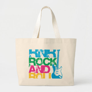 rock and roll guitar  mix color tote bags