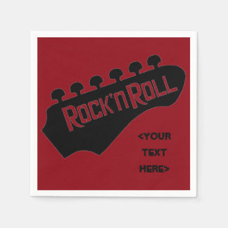Rock and Roll Guitar Personalized Napkins