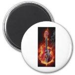 Rock and roll   guitara refrigerator magnet