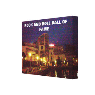 ROCK AND ROLL HALL canvas Canvas Print