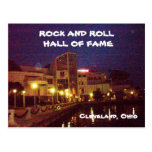 ROCK AND ROLL HALL OF FAME post card
