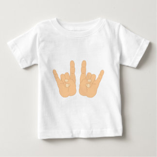 Rock and Roll Hand Sign Baby T-Shirt