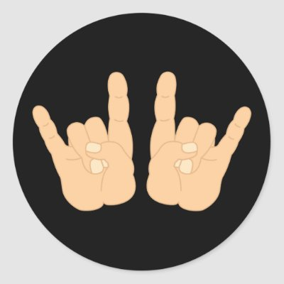 Rock and Roll Hand Sign Round
