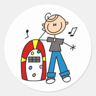 Rock And Roll Juke Box Sticker