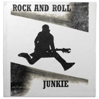 Rock and Roll Junkie Cloth Napkin