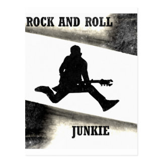 Rock and Roll Junkie Postcard