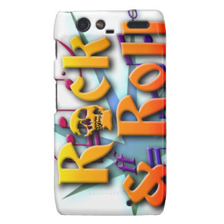 rock and roll let it rock skull droid RAZR cases
