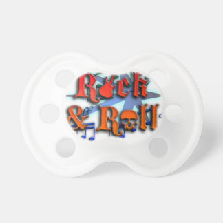 rock and roll let it rock skull pacifier
