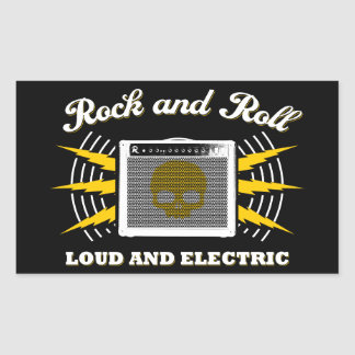 Rock and Roll: Loud and Electric Rectangular Sticker