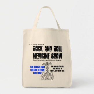 Rock and Roll Medicine Show grocery tote Grocery Tote Bag