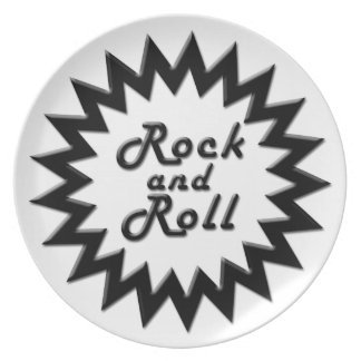 Rock and Roll Melamine Plate