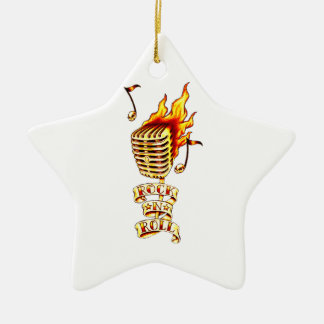 Rock and Roll Microphone Ceramic Ornament