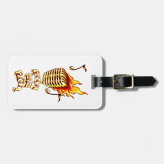 Rock and Roll Microphone Travel Bag Tag