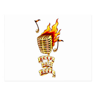 Rock and Roll Microphone Postcard