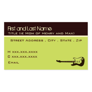 Rock and Roll Mom Business Card