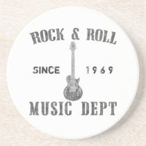 Rock and Roll Music Department Drink Coaster