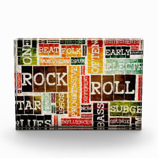 Rock and Roll Music Poster Art as Background Acrylic Award