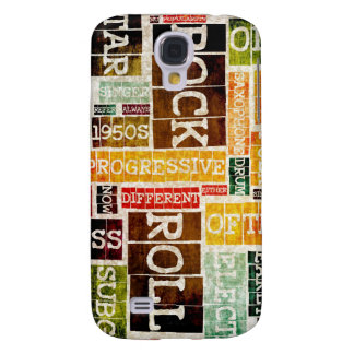 Rock and Roll Music Poster Art as Background Samsung Galaxy S4 Cover