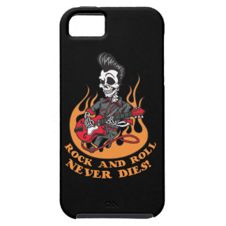Rock And Roll Never Dies Skeleton Guitar iPhone 5 Case