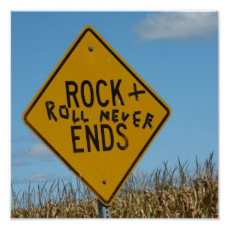Rock and Roll Never Ends, Street Sign Graffiti