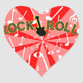 Rock And Roll Noise Heart Sticker
