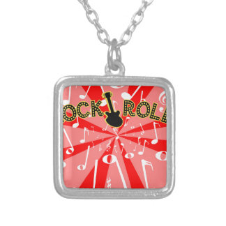 Rock And Roll Noise Silver Plated Necklace