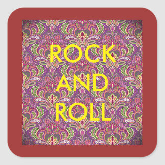 Rock and Roll Paisley Stickers